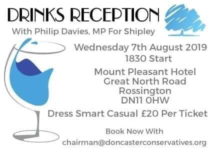 Drinks reception with Philip Davies, MP for Shipley